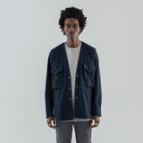 CARPENTER SHIRT JACKET COTTON FLANNEL - NAVY
