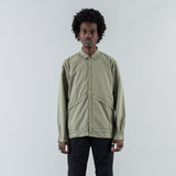 COACH SHIRT JACKET COTTON TWILL VW - OLIVE