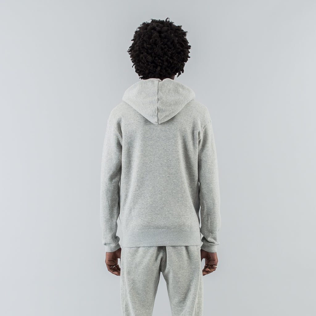 DWELLER FULL ZIP HOODY COTTON SWEAT - H. GREY