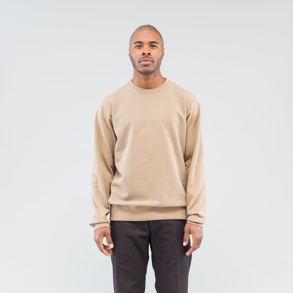 COACH CREW PULLOVER COTTON SWEAT OVERDYED - BEIGE