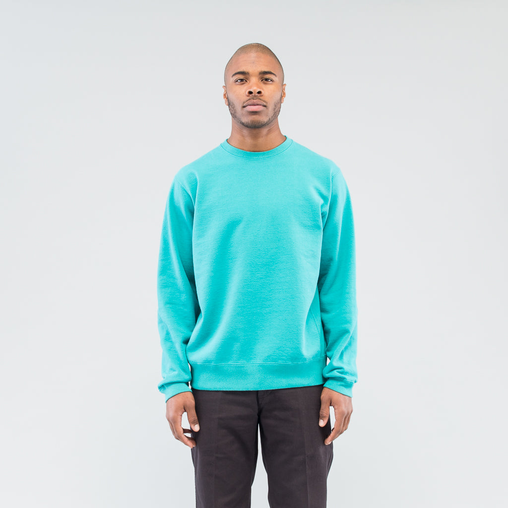 COACH CREW PULLOVER COTTON SWEAT OVERDYED - EMERALD