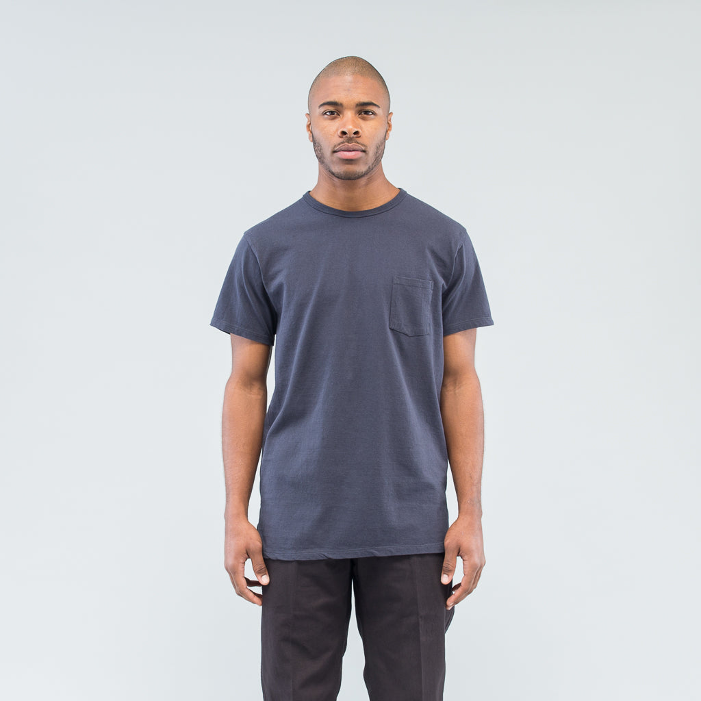 DWELLER S/S TEE COTTON JERSEY HEAVY WEIGHT - CHARCOAL