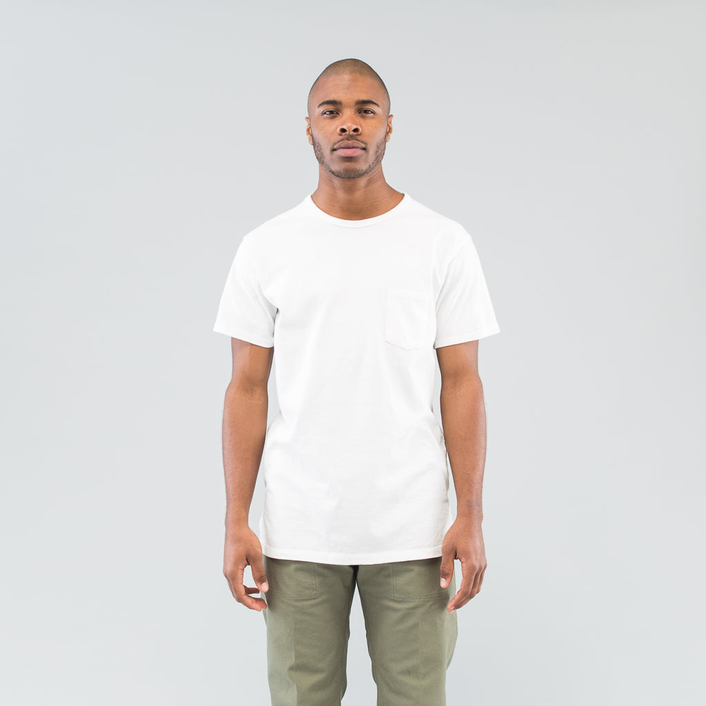 DWELLER S/S TEE COTTON JERSEY HEAVY WEIGHT - WHITE