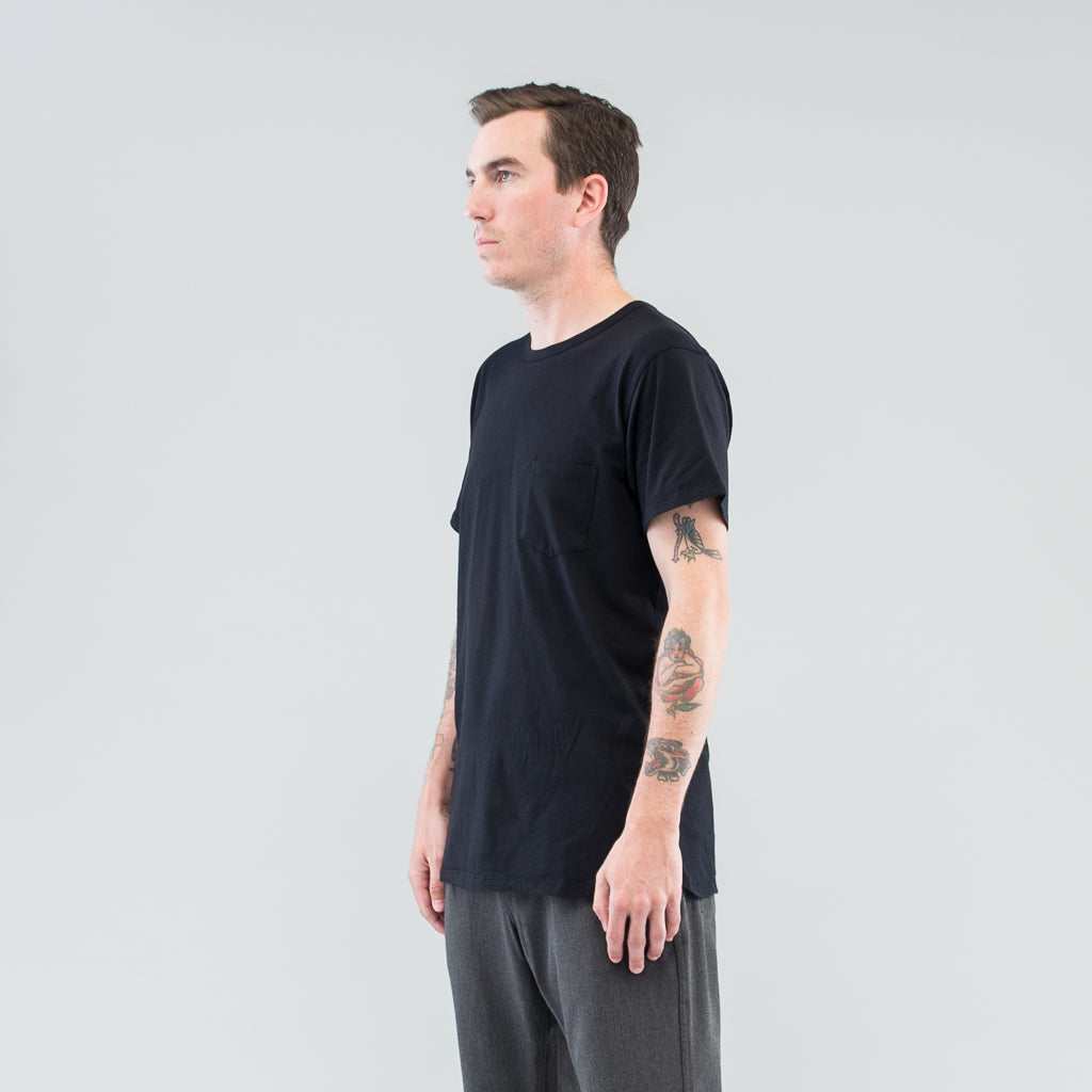 DWELLER S/S TEE COTTON JERSEY - BLACK