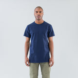 DWELLER S/S TEE COTTON JERSEY HEAVY WEIGHT - NAVY