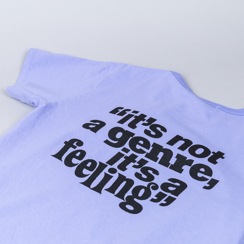 """IT'S A FEELING"" DWELLER S/S TEE for FACE- LILAC"