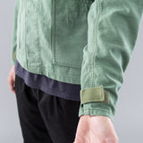 GARDENER JACKET CB SATIN OVERDYED VW - OLIVE