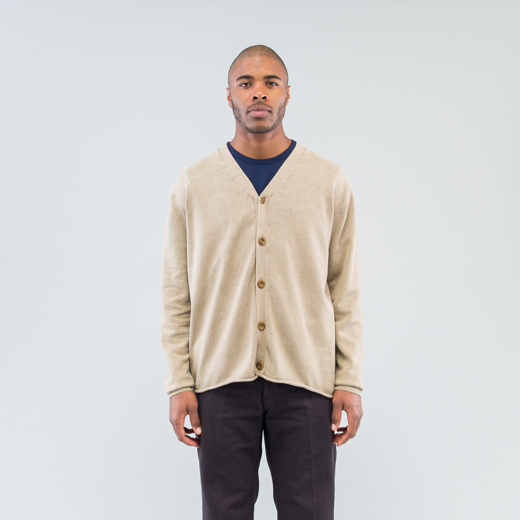 HUNTER CARDIGAN COTTON YARN VW - BEIGE