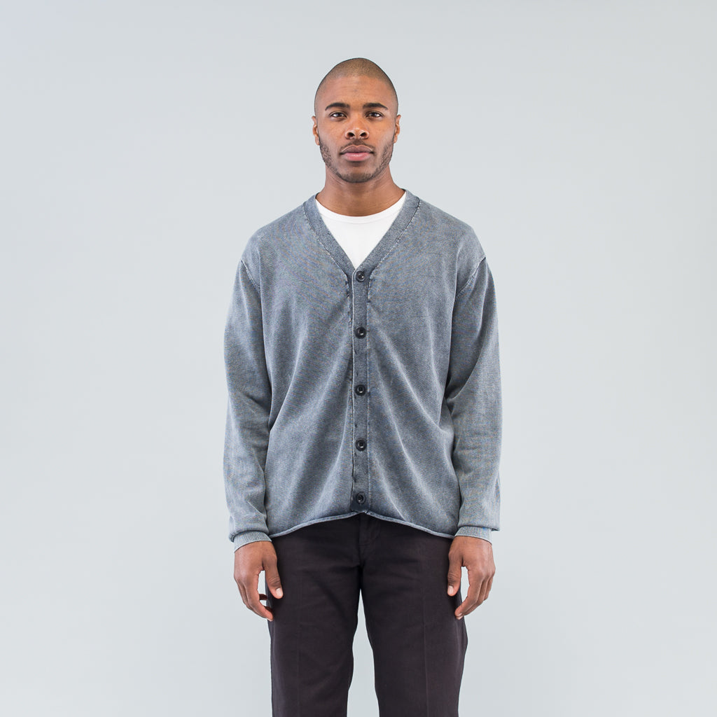 HUNTER CARDIGAN COTTON YARN VW - NAVY
