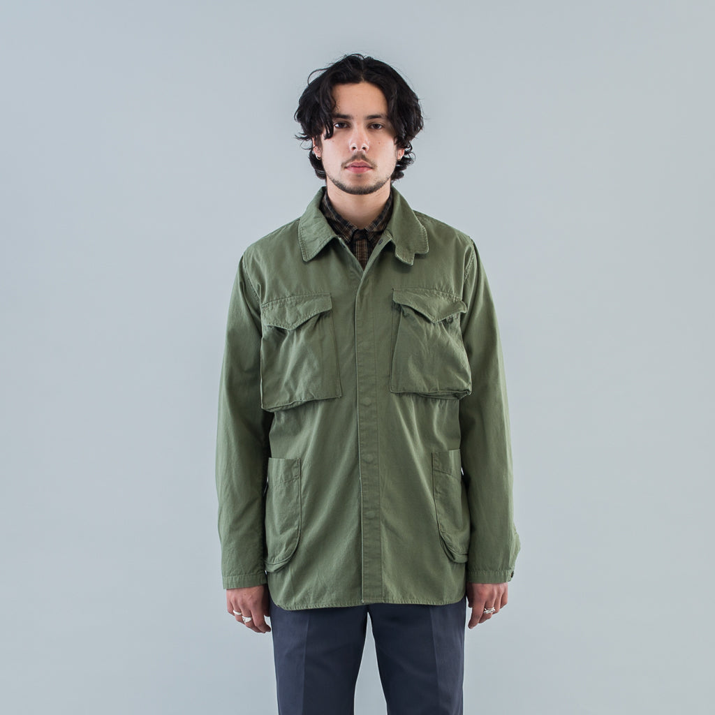 HUNTER SHIRT JACKET COTTON RIPSTOP - OLIVE