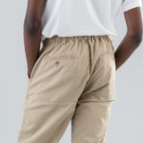 MANAGER EASY PANTS RELAX FIT C/L TWILL - BEIGE