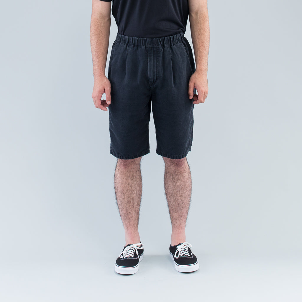 MANAGER EASY SHORTS COTTON GROSGRAIN - BLACK