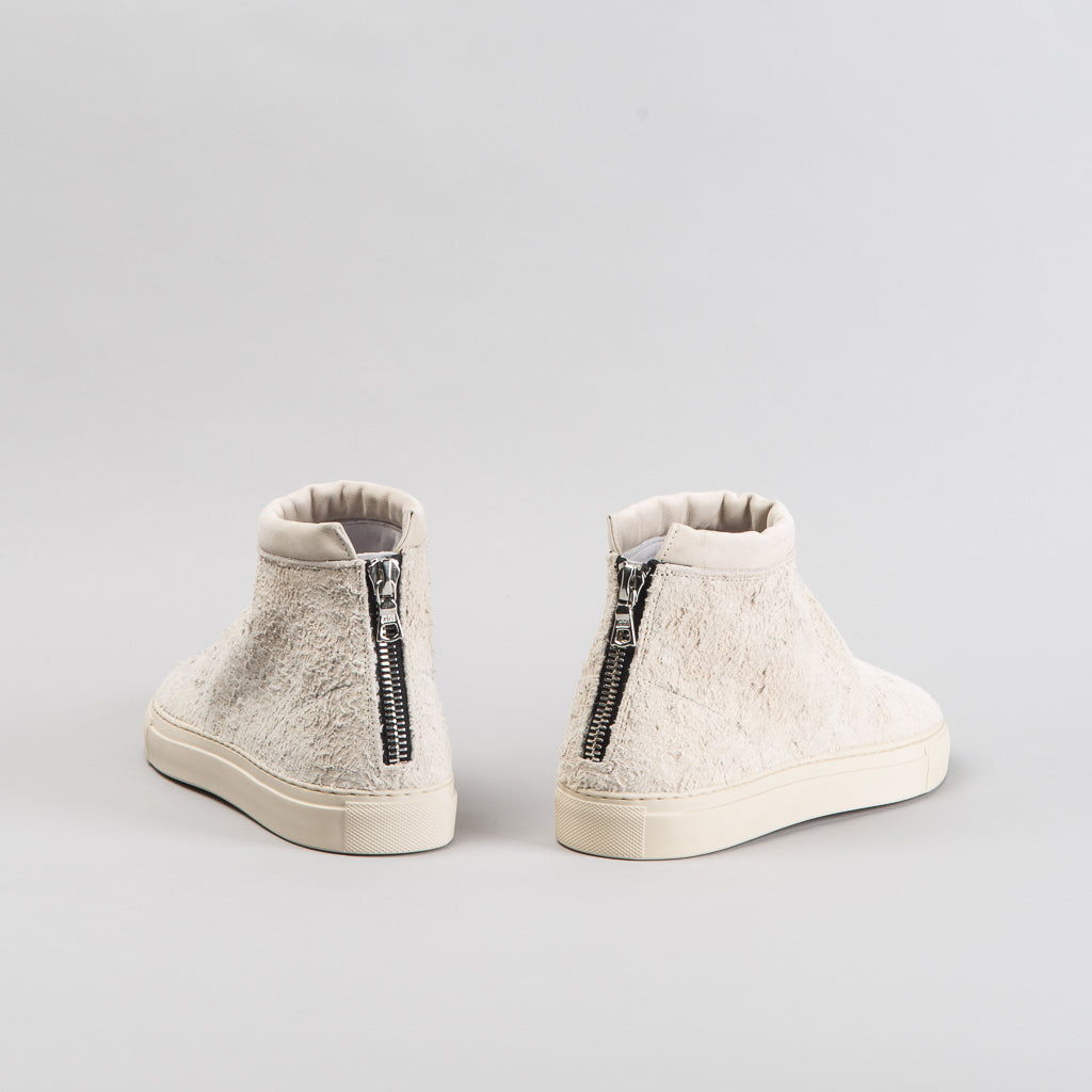 ARCHIVE SALE - NONNATIVE - WHITE TRAVELER TRAINER MID COW SUEDE