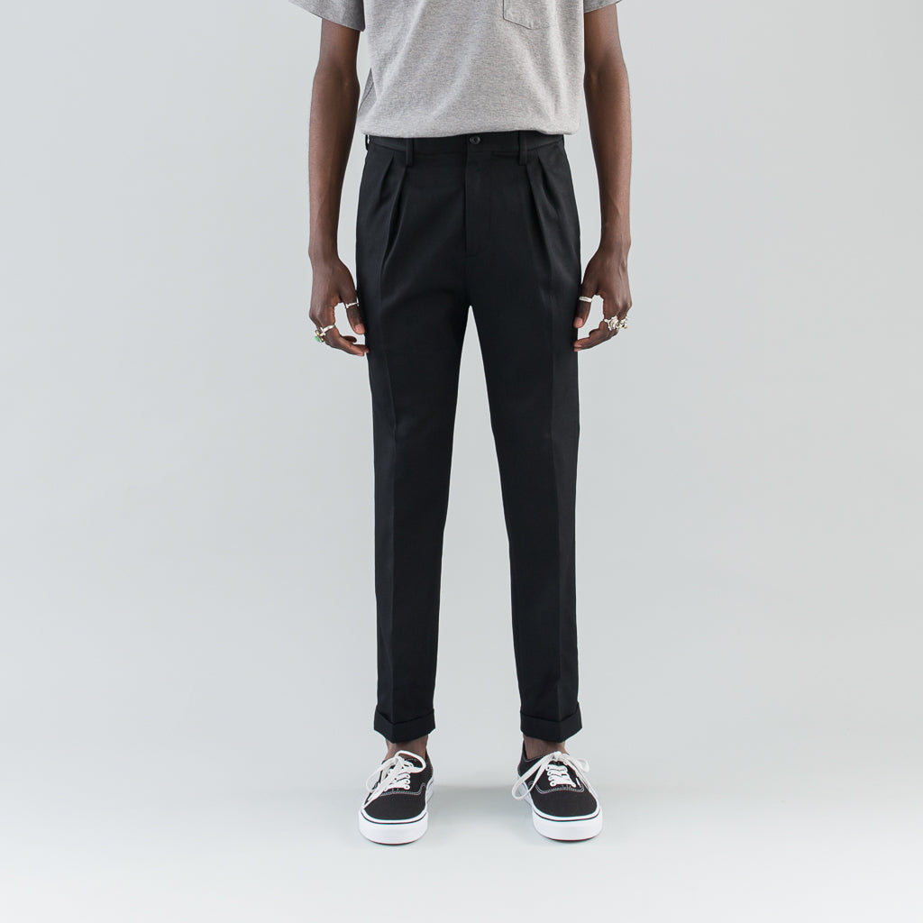 PORTER SLACKS WOOL TWILL - BLACK