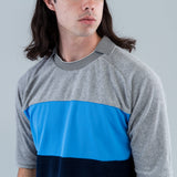 PILE FOOTBALL TEE - GRAY / BLUE