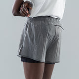 "SHORT DISTANCE 3"" SHORTS - STEEL SPLATTERED"