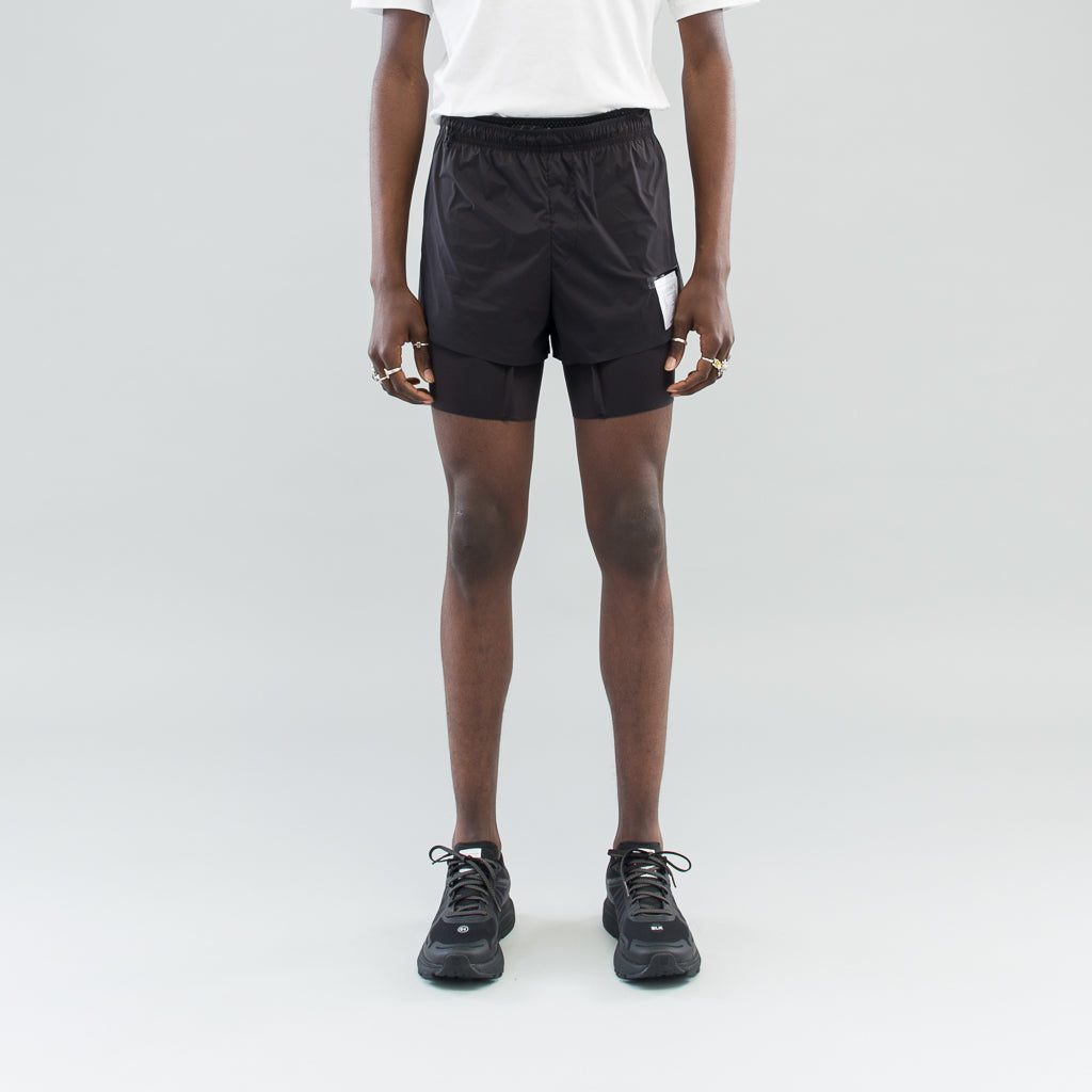 "SHORT DISTANCE 8"" SHORTS - BLACK SILK"