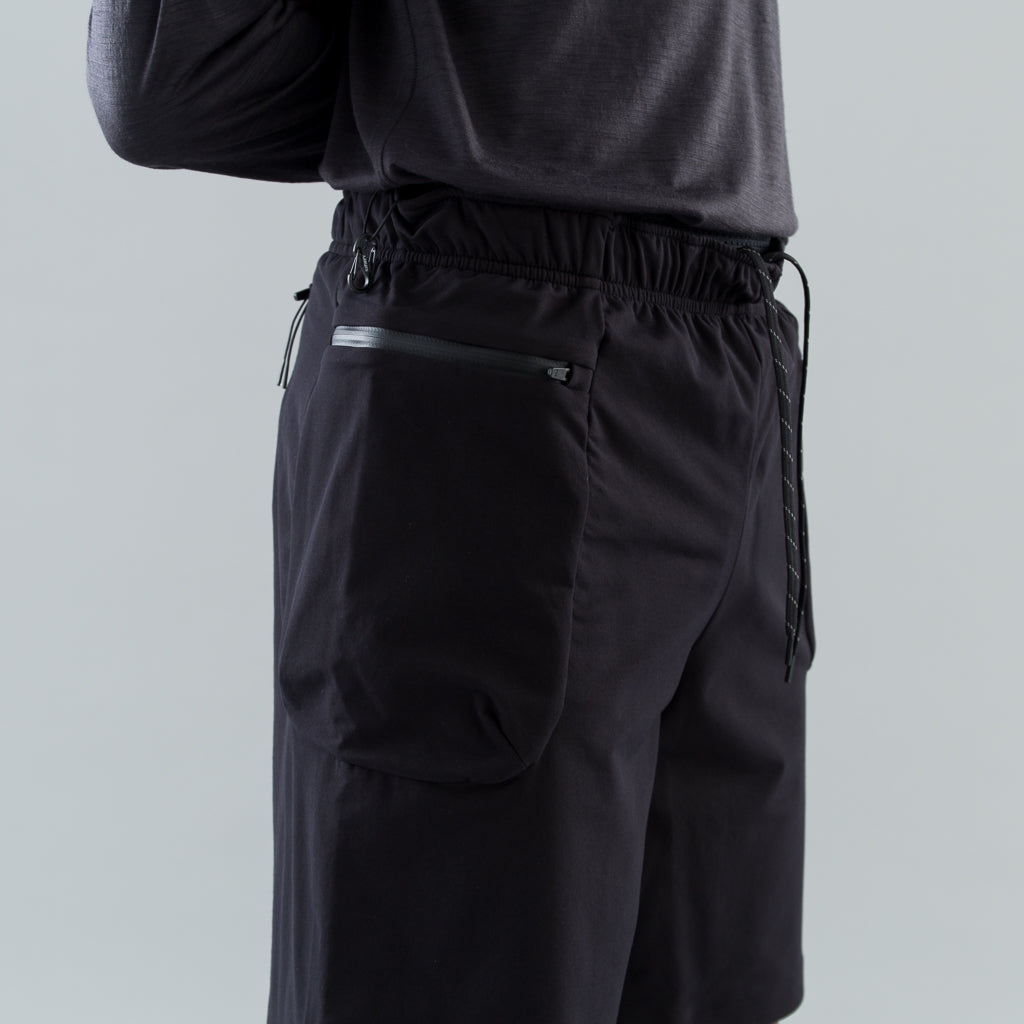 "JUSTICE MERINO 8"" SHORTS - BLACK"