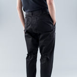 TWILL CARGO PANTS - BLACK
