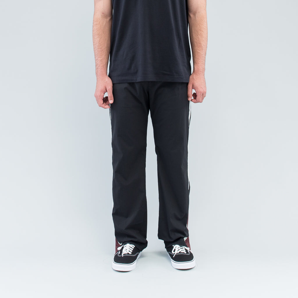 TRACK PANTS - BLACK / BURGUNDY