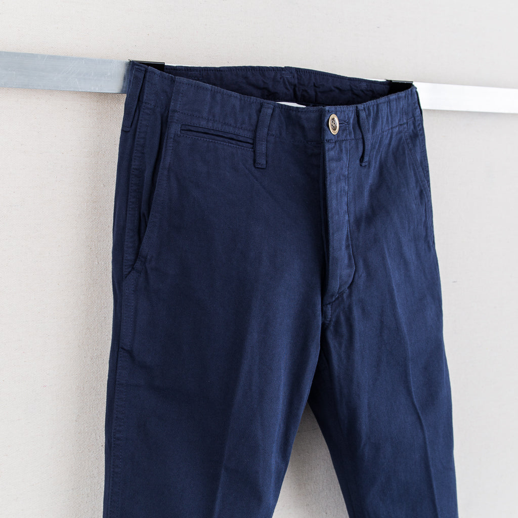 HIGH-WATER CHINO (GIZA CHINO) - NAVY