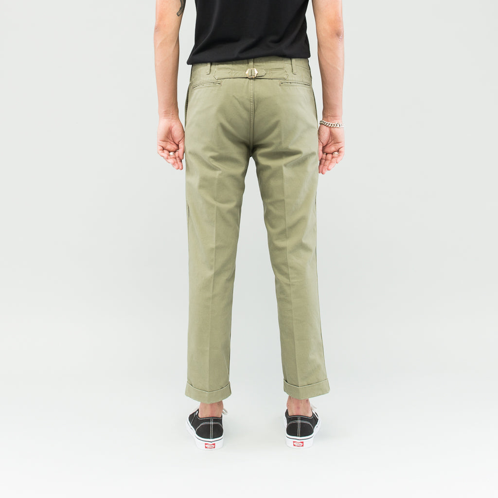 HIGH-WATER CHINO - OLIVE
