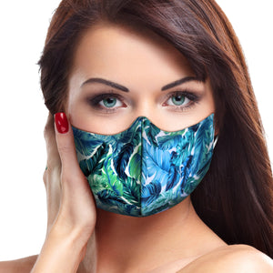 Tropical Banana Leaves Face Mask - Le Miller Store
