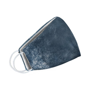 Blue Denim Tie Dye Face Mask - Le Miller Store