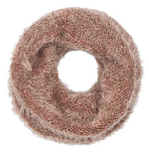 Double Layer Marled Knit Cowl Neck Infinity Loop Scarf Neck Warmer - Le Miller Store