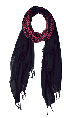 Women's Peace and Love Mantra Printed Fashion Scarf - Le Miller Store