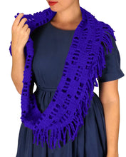 Winter Knitted Rectangular Pattern Long Fringe - Le Miller Store