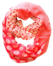 Multi Polka Dot Circle and Stripe Print Infinity - Le Miller Store