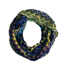 Chevron Multicolored Zigzag Knitted Loop Scarf - Le Miller Store