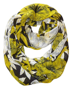 Retro Colorful Faded Hawaiian Hibiscus Flower Infinity Loop Scarf - Le Miller Store
