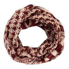 Light Tribal and Striped Houndstooth Sheer Infinity Loop Scarf - Le Miller