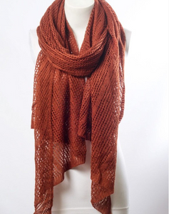 Sexy Rust Fishnet Scarf - Le Miller Store