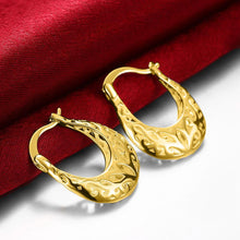 Filigree Leverback French Lock Earringin 18K Gold Plated - Le Miller