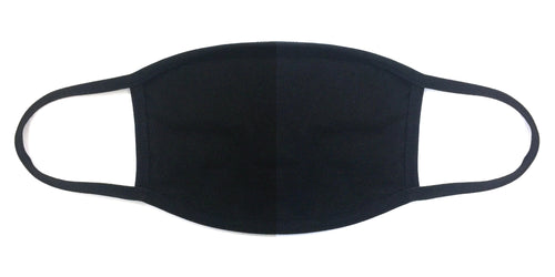100% COTTON MADE IN THE USA PLAIN BLACK FABRIC FACE MASK - Le Miller Store