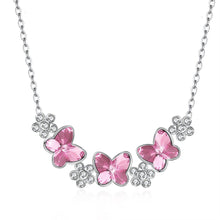 Sterling Silver Necklace with Crystals - Le Miller