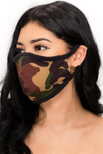 FASHION MASK 101-CAMO-camouflage double layer contoured face mask. - Le Miller Store
