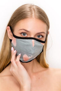 FASHION MASK 101-HT-GREY-heart print double layer contoured face mask. - Le Miller Store