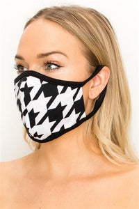 FASHION MASK SW540-MASK101-HNDT-houndstooth print double layer - Le Miller Store