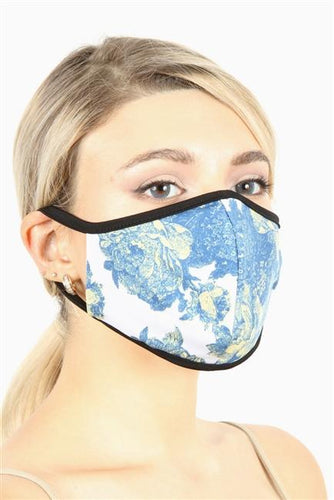 FASHION MASK SW541-MASK101-FL11-floral double layer contoured face - Le Miller Store