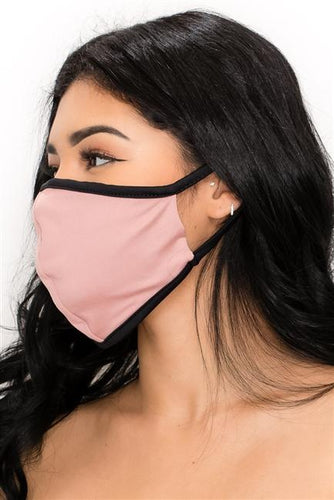 FASHION MASK SW546-MASK101-SL-PINK-solid color double layer contoured - Le Miller Store