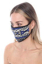 FASHION MASK SW571- MASK101-BLACK BLUE PRINT FACE MASK DOUBLE LAYER - Le Miller Store