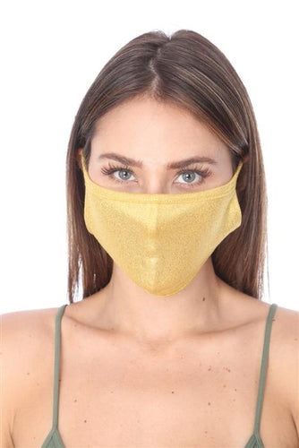 SW575- MASK101 GOLD METALLIC FACE MASK DOUBLE LAYER - Le Miller Store