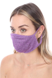 FASHION MASK SW576- MASK101 LT. PURPLE FACE MASK DOUBLE LAYER - Le Miller Store