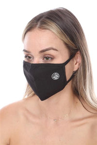 FASHION MASK SW577- MASK101 BLACK USA FLAG FACE MASK DOUBLE LAYER - Le Miller Store