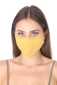 FASHION MASK 101 MUSTARD FACE MASK DOUBLE LAYER - Le Miller Store