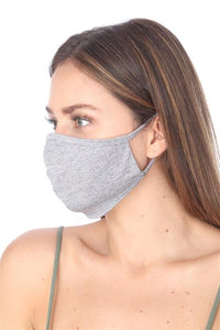 FASHION MASK 101 GREY FACE MASK DOUBLE LAYER - Le Miller Store
